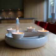 Advent kandelaar waxine handgemaakt keramiek Goeters