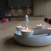 Advent kandelaar waxine met ruimte voor decoratie Goeters