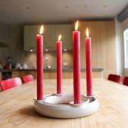 Kandelaar voor 4 kaarsen geschikt voor decoratie Goeters