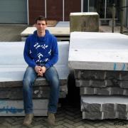 michiel van luijn kunstenaar en ambachtsman op stape stenen
