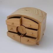 Sieraden kistje met laadjes, verfijnde ronde vormen Goeters