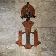 Marmer intarsia van marmerlegger Erik