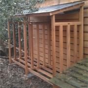 afdak-haardhout-300x100cm voor dubbele rij houtblokken Goeters