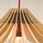 Design hanglamp van kleerhangers handgemaakt Goeters