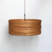 Hanglamp van hout Ring  in roodeiken