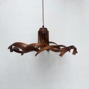 Hanglamp-Krul-no..2-vlakke-pendant-Amerikaans-noten-Goeters.