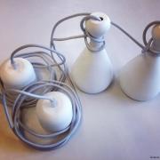 Hanglampje Pion wit ongeglazuurd porselein met grijs snoer Goeters