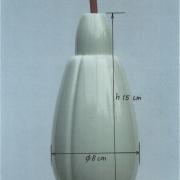 Maat aanduiding hanglampje Tulip