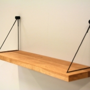 Massief Eiken Boekenplank.Hangplank Sling Uniek Ophangsysteem Voor Wandplanken