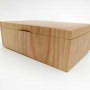 Kistje met kopshouten invallende deksel fotoformaat Goeters