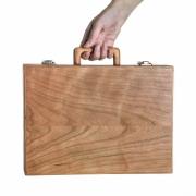 Houten koffer klein A4 kersenhout Goeters