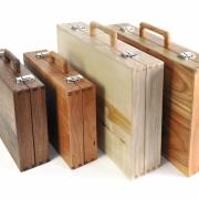 Houten koffers van Goeters meubelmaker Theo Ruigrok
