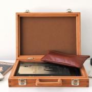 Klein houten koffertje A4 formaat Goeters