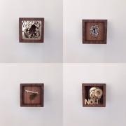 Kubus kistjes voor kunstwerkjes van Goeters