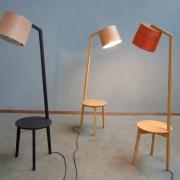 Lees Lamp Tafel van Hollands Kersenhout, plataan en gerookt eiken Goeters