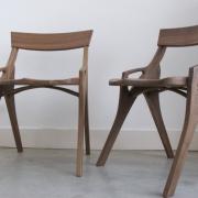 Vijftiger jaren stoelen naar Deens Design notenhout