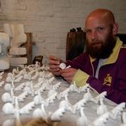 Erik de Jong kunstenaar en marmerlegger