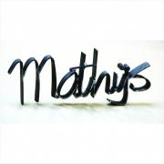 Je naam in 3D metaal Goeters mathijs
