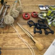 Gereedschappen om touwen te splitsen