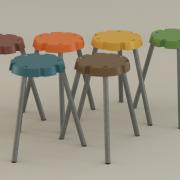 Stapelbare kruk design Pieter van de Veen verkoop vie Goeter