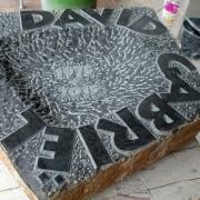 Custom Made Schaal uit basalt met tekst