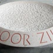 Custom Made Schaal van Bianco del Mare met tekst Goeters