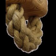 Handmatig geknoopt en gesplitst touw bij Goeters