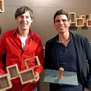 Henrik SPehr hout en Michiel van Luijn steen bij Goeters