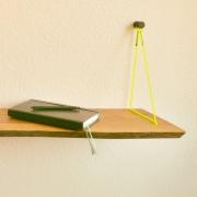 Hangplank Sling met massief houten wandplank