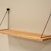 Hangplank sling slank in essenhoutmet zwaart koord