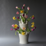 Tulpenvaas of boeketvaas in drie delen van Floortje Roetemeijer bij Goeters kopie