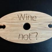 Wijnhouder  glascaroussel van bamboe Goeters