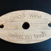 Wijnhouder met orgininele teksten