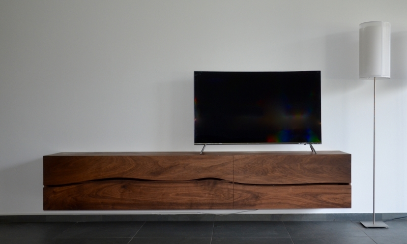 Tv Meubel Dressoir Kast.Tv Meubel Zwevend Hout Meuble Gallery Collection